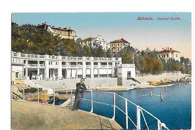 Vintage Postcard Abbazia Seebad Quitta Croatia Man Standing DB Era