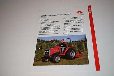 Massey Ferguson Model 1250 24wd Compact Tractors Sales Sheet