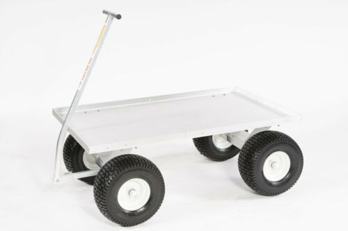 """Super Heavy Duty Aluminum Pull Wagon-13"""" Large Tread Tires-Made in USA!!"""