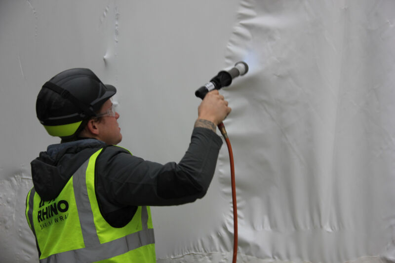Watch our step by step guide to shrink wrapping a temporary roof