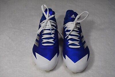 2703c0e5d New Adidas Spg 753001 Art B39181 Baseball Cleats Size 6.5 BLUE WHITE SILVER