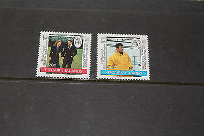 PITCAIRN ISLANDS 1986 ROYAL WEDDING,PRINCE ANDREW SET OF 2 FINE M/N/H COND