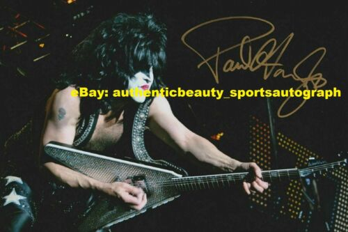 PAUL STANLEY KISS HEAVY METAL BAND HOT AUTO SIGNED 12x18 POSTER PHOTO REPRINT RP