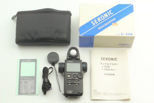 【MINT in BOX】 Sekonic L-558 Dual Master Light Meter L558 w/ Case From JAPAN #324