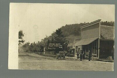 Bloom City WISCONSIN RP 1909 GENERAL STORE nr La Farge Viroqua Yuba GHOST (Yuba City Stores)