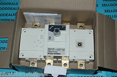 Socomec 26dc4026 Sirco Dc 4x250a F Disconnect Switch 250a Dc 26dc 4026 New