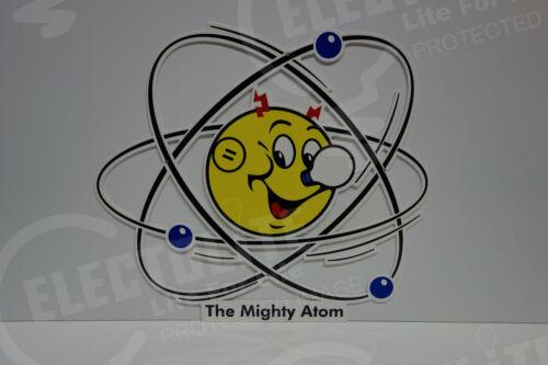 Reddy Kilowatt Power DIE CUT The MIGHTY ATOM Electric SIGN ELECTRICIAN GIFT