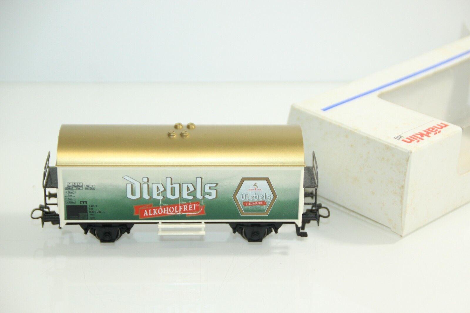 """Märklin H0 4415 Bierwagen """"Diebels alkoholfrei"""" der DB in OVP GS3526"""