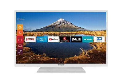 Telefunken XF32G511W Fernseher 32 Zoll Full HD TripleTuner Smart TV WLAN Weiß