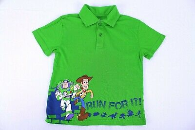 Disney Boy's Size 4 Short Sleeved Green Polo Toy Story Characters](Disney Boys Clothes)