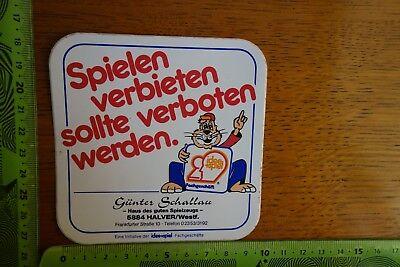 Alter Aufkleber Spielzeug idee+spiel Fachgeschäft Günter Schallau Halver/Westf.