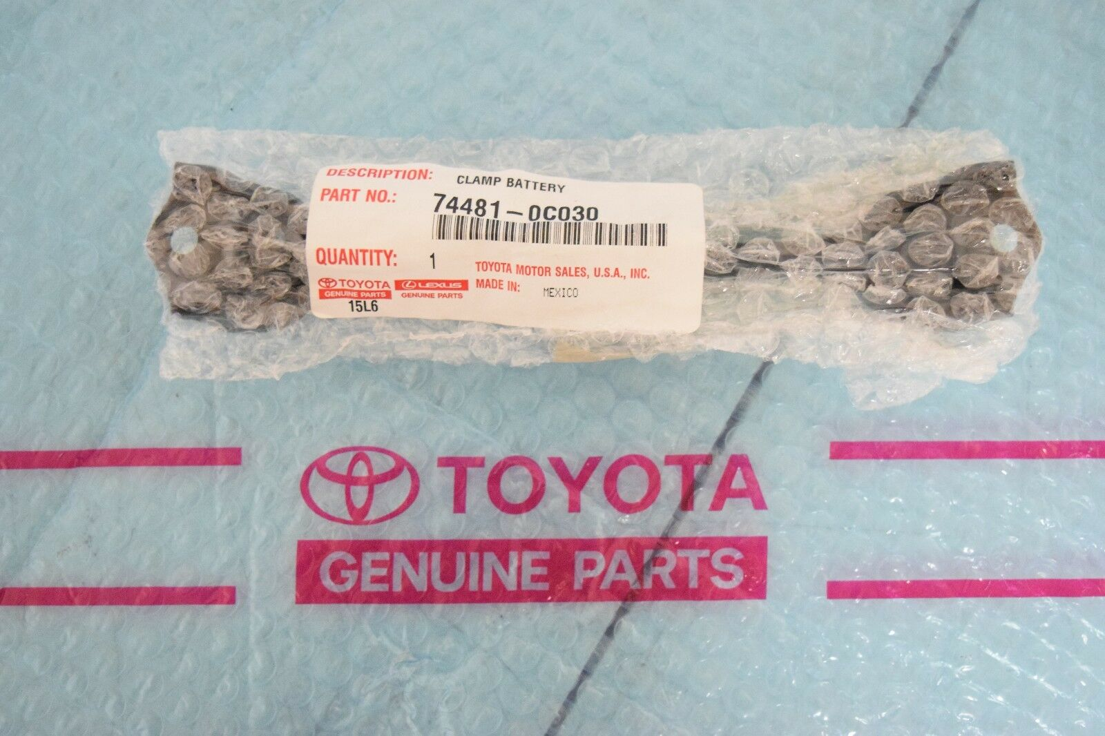TOYOTA OEM 07-16 Tundra Battery Hold Down Tie Bracket Clamp 744810C030