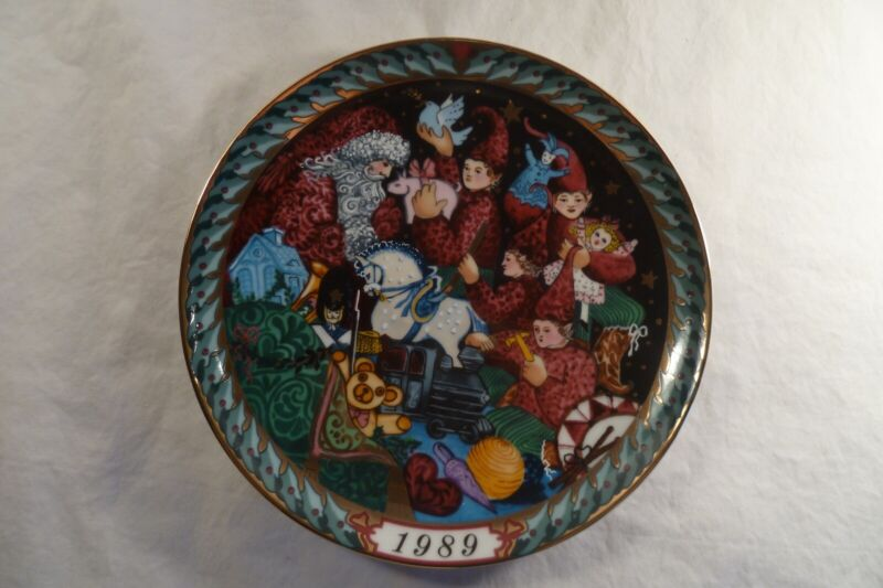 Bing and Grondahl Christmas Santa Clause Collection Plate 1989