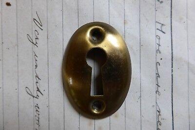 Original Antique Brass Door Escutcheon keyhole co (antique handles)