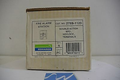 Edwards Signaling 278b-1120 Fire Alarm Pull Station W Keylock  New In Box