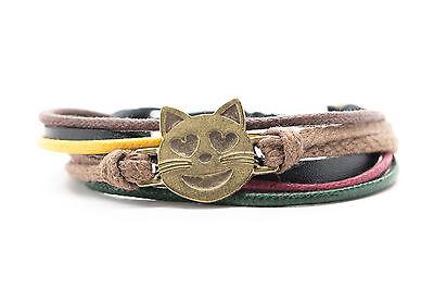 Emoji Armband Lächelnde Katzen-Gesicht mit Herz Form Augen Handgemacht ()