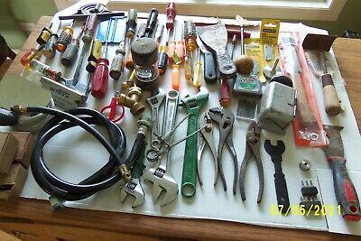 Vintage Men's Junk Drawer Lot Tools Vintage worm can