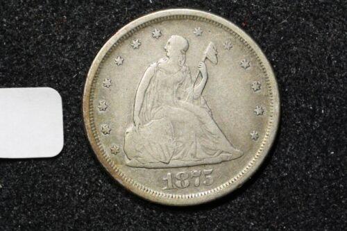 1875-S Twenty Cent Piece,Very Fine