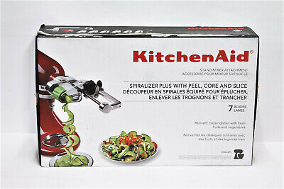 KitchenAid KSM2APC  7 Blade Spiralizer Plus with Peel, Core and Slice