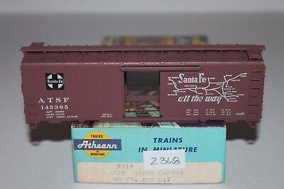 HO Scale Athearn 5014 Santa Fe Grand Canyon 40' SD Boxcar 145385 Kit  D2368