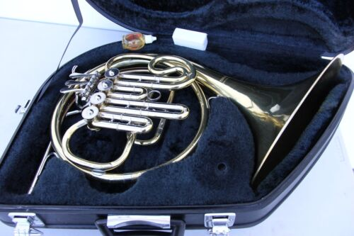 Yamaha French Horn YHR322 YHR 322 With Hard Case, Mouthpiece Oil & Ready to Play