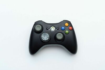 MICROSOFT BRAND XBOX 360 BLACK + GRAY WIRELESS CONTROLLER TESTED & GUARANTEED