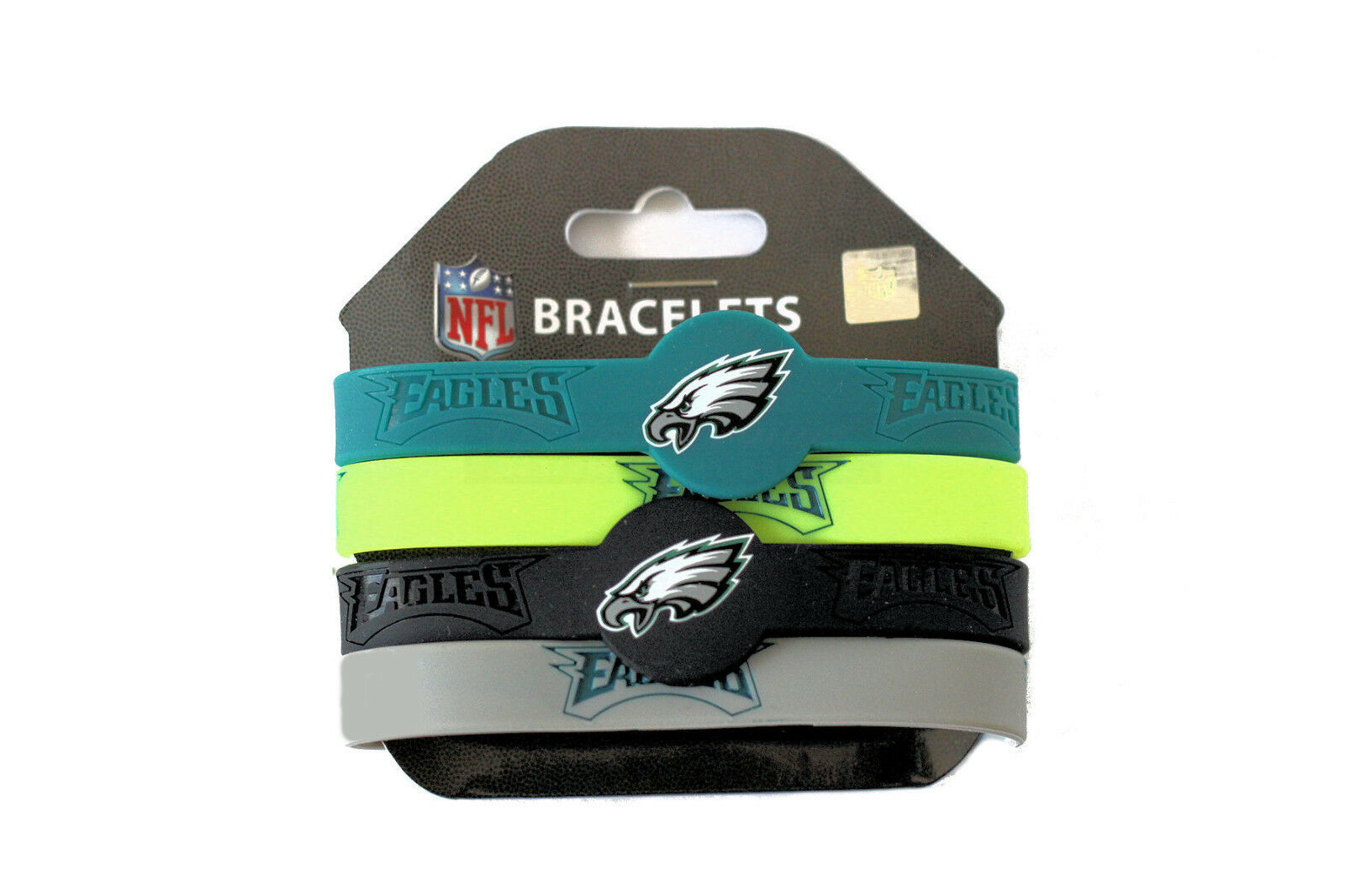 NFL bracelet rubber wrist fan band 4 PACK silicone PICK YOUR TEAM
