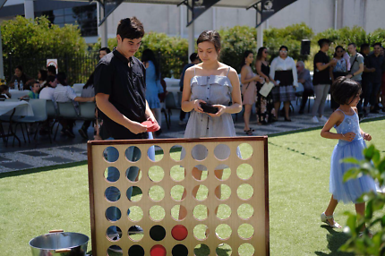 Hire 3 giant lawn games wedding hire birthday hire baby showers