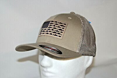 a3837564a5cca Columbia PFG Fish Flag Mesh Fitted Flexfit Ballcap in Tusk L XL 7 - 7 3 4