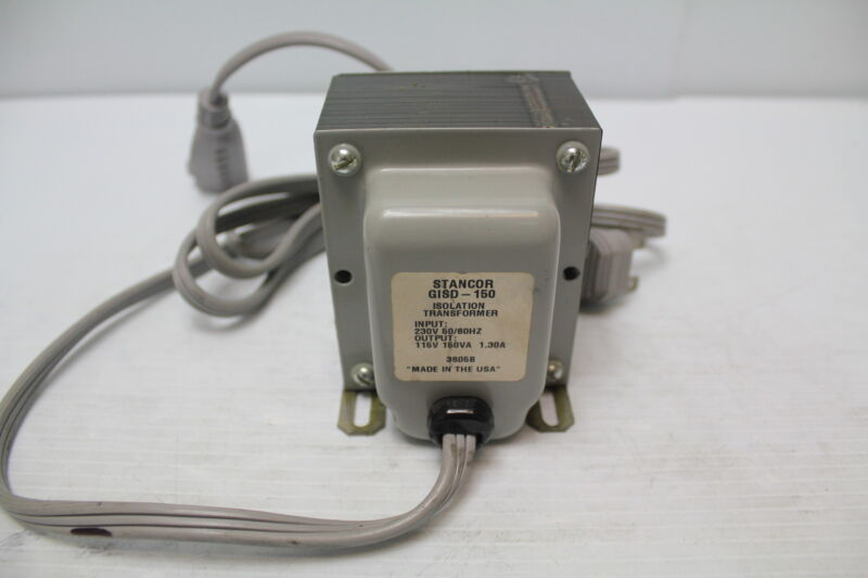 Stancor GISD-150 Power Transformer 1500Vrms 150VA Wire Lead Used