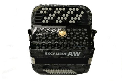 EXCALIBUR SUPER CLASSIC 72 BASS CHROMATIC ACCORDION GRAY