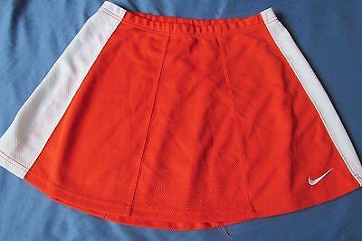 Mujer Nike Equipo Malla Falda TALLA M 8-10 Tenis / Golf / Cheer Naranja y Blanco, usado segunda mano  Embacar hacia Spain