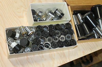 Large Lot Of Tiyoda Microscope Parts Eye Pieces