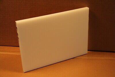 12 Delrin Block Natural Acetal Sheet 7.25x10 Cnc Millstock Plastic 7804