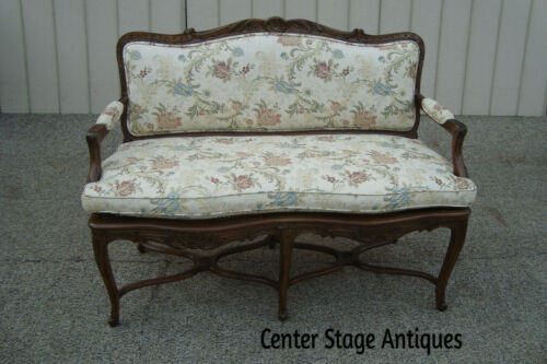 60560  French Country Louis XV Settee Loveseat Sofa Chair
