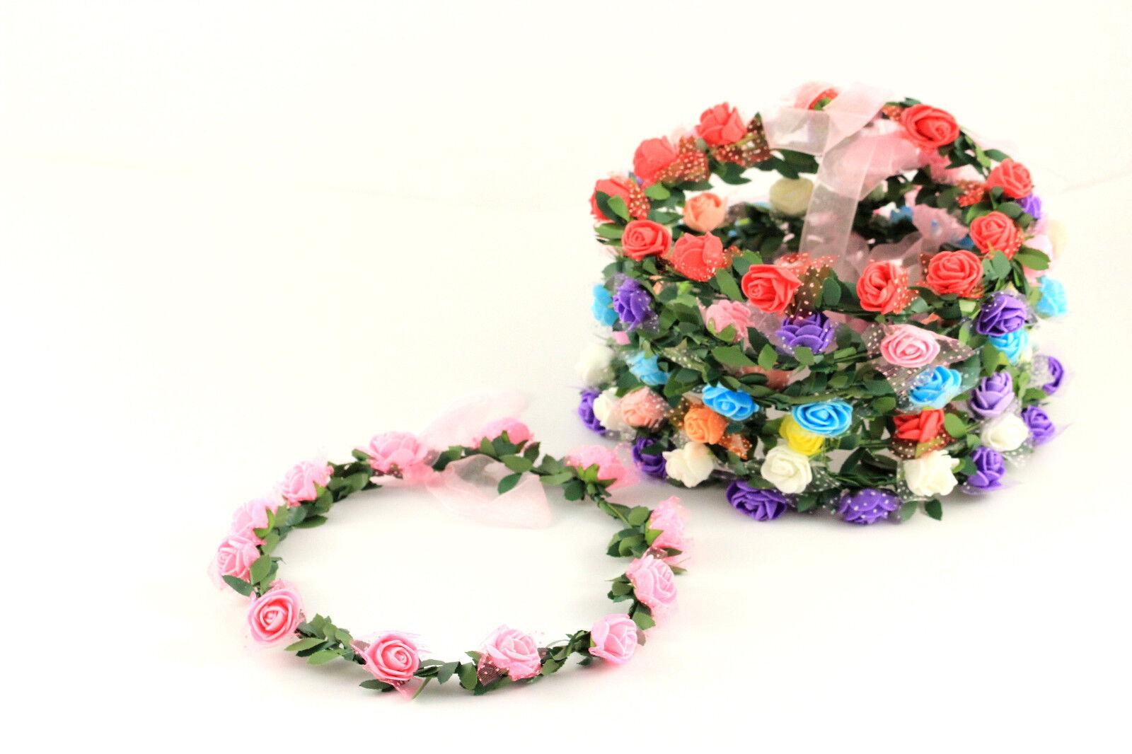 Haarband Stirnband Kranz Blumen Rose Festival Party Hochzeit Haarschmuck A190