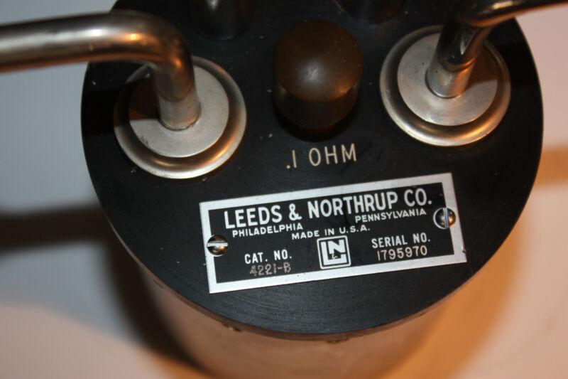 Leeds & Northrup .1 OHM resistor resistance lab standard calibration 4221-B
