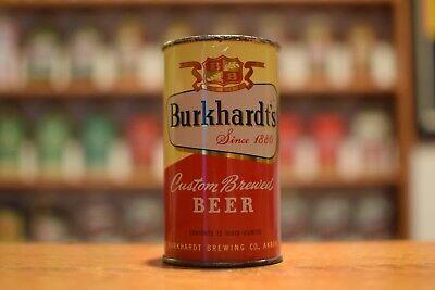 Burkhardt'sflat top beer can,Burkhardt, Akron OH -VANITY LID!