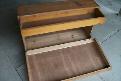 Old Large Wooden Box with drawer - Rotherham S65 collection