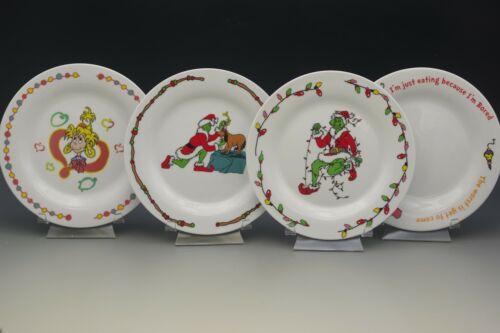 GRINCH WHO STOLE CHRISTMAS 2000 UNIVERSAL STUDIOS SET OF 4 PLATES DR.SEUSS