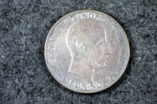 1912 - Norway Haakon VII Silver Coin 2 Kroner! #J05476