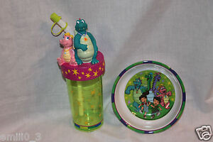 NEW-DRAGON-TALES-SPORTS-BOTTLE-CUP-AND-BOWL-SET-DINNERWARE-VERY-RARE