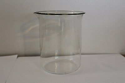 Vintage Pyrex 600 Ml Glass Beaker With Spout Made In Usa