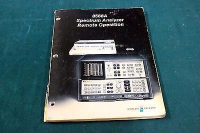 Hp 8568a Operating Manual