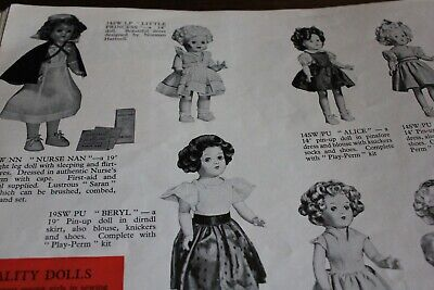 Pedigree doll 1955 catalogue 24pp + ; A Copy taken from the  archive original
