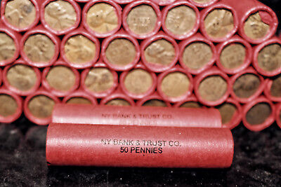 VINTAGE WHEAT PENNY ROLLS OLD U.S. COIN LOT ESTATE COLLECTION CENTS PENNIES SETS