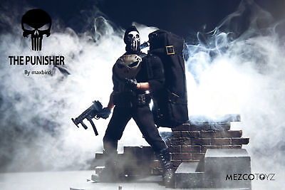 Punisher Mask (Custom mask for Mezco the punisher suitble for 6-7inch 1:12  action)