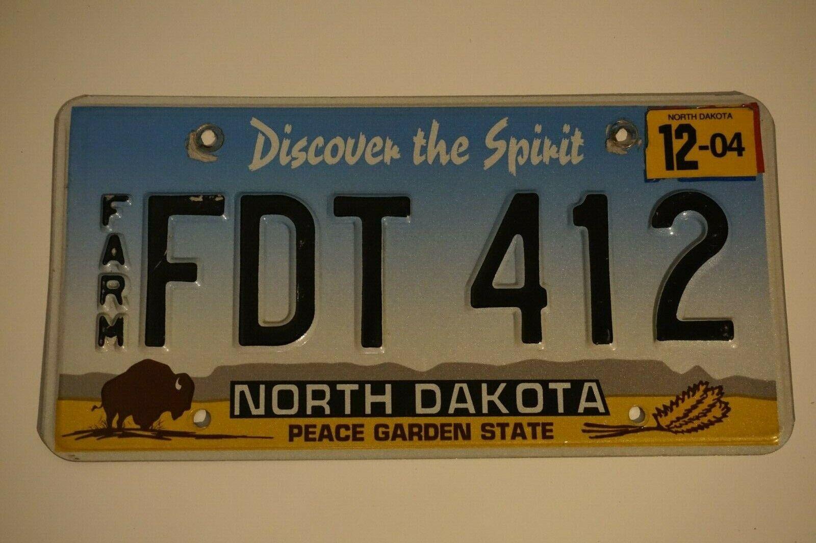 North Dakota Nummernschild USA Kennzeichen Farm Discover the Spirit