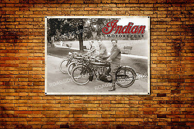 Indian Motorcycle Vintage Style Advertising Poster Banner 4' x 3'