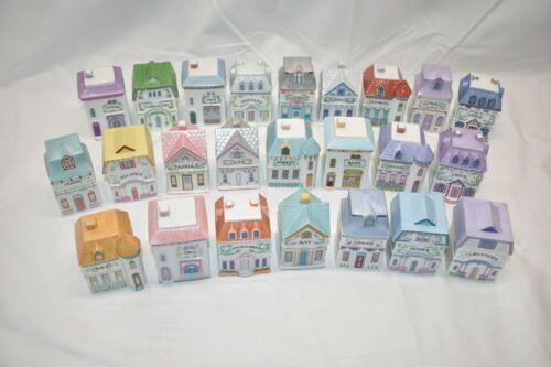 The Lenox Spice Village Complete Set of 24 Fine Porcelain Houses 1989 No Rack